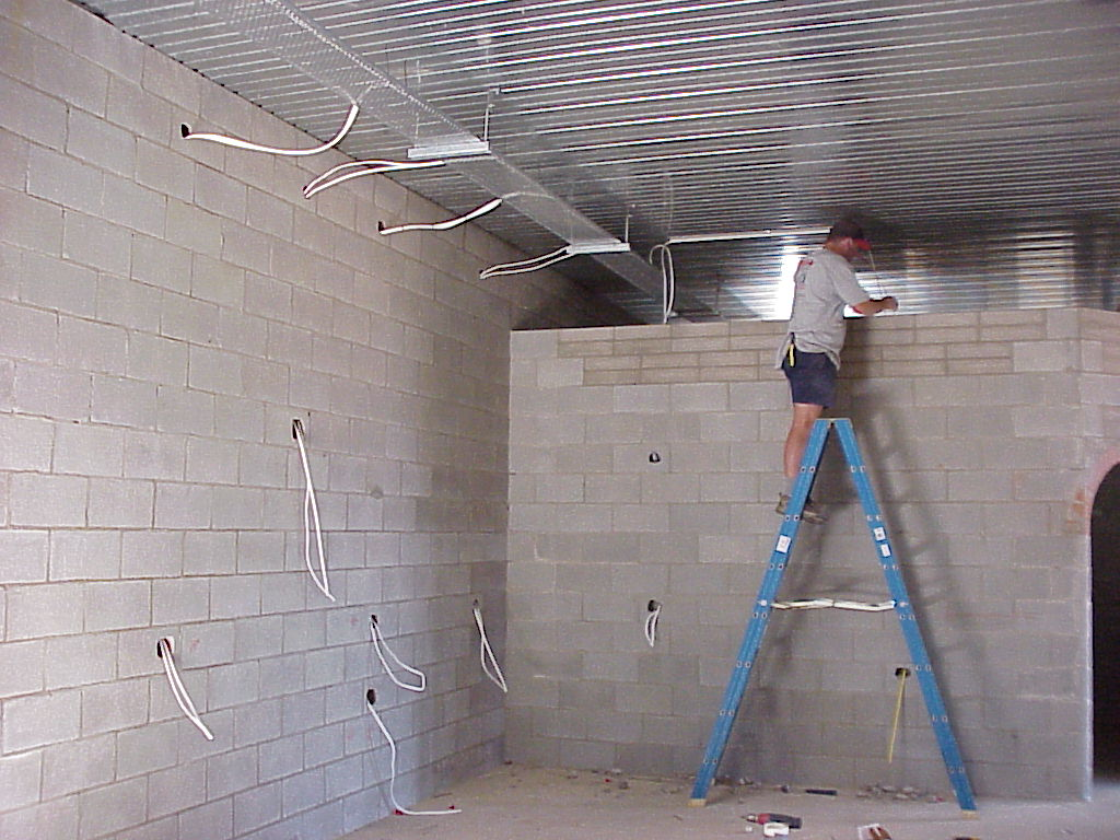 daniel runs a cable down an internal wall in the kitchen Terminal Block Wiring Diagram wiring a concrete block house